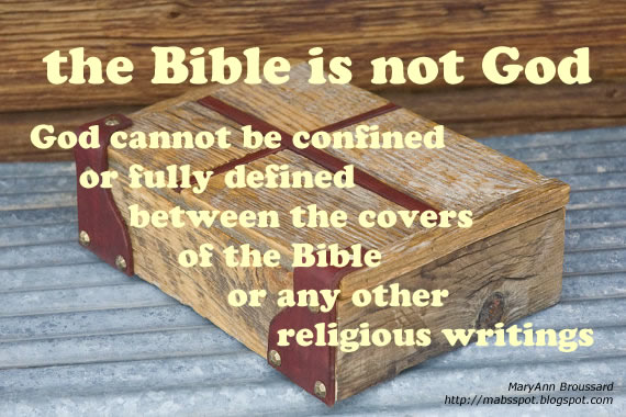 2016 (02) Feb 9 - the Bible is not God